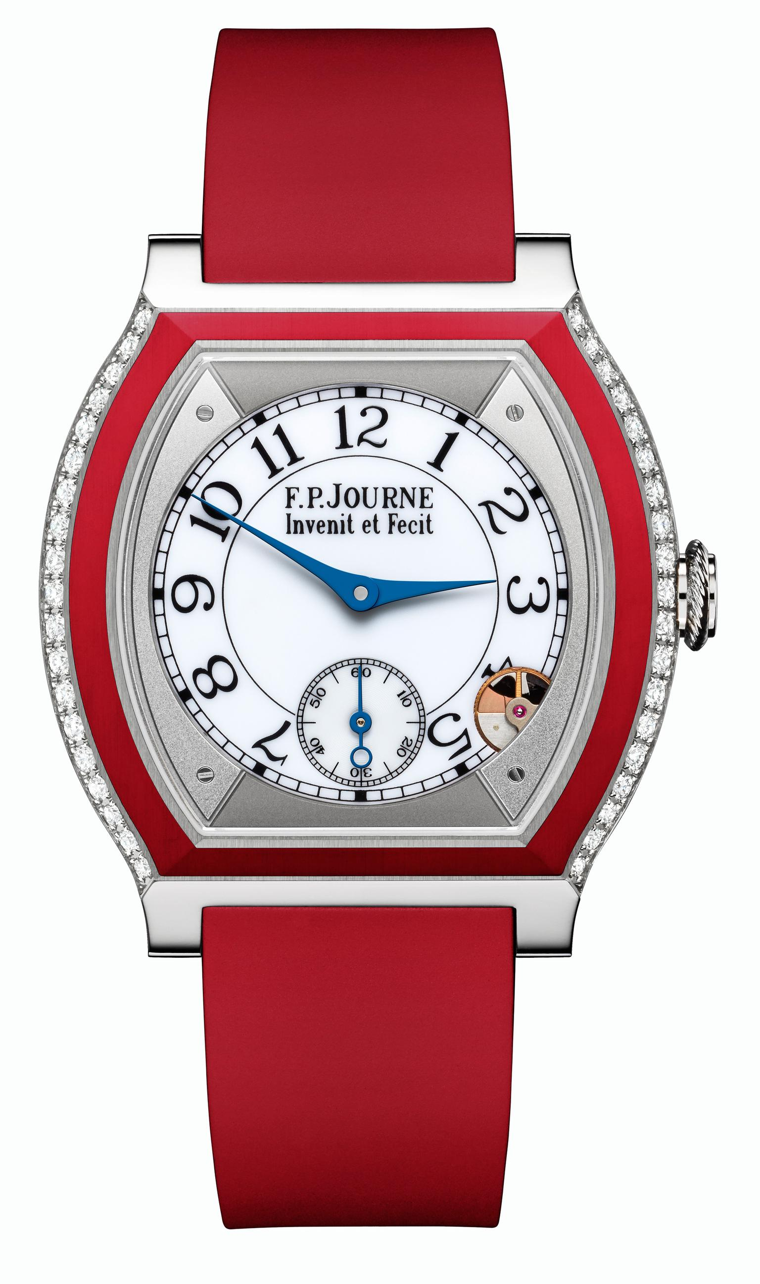 F.P.Journe Élégante watch in titanium and red rubber_20140220_Zoom