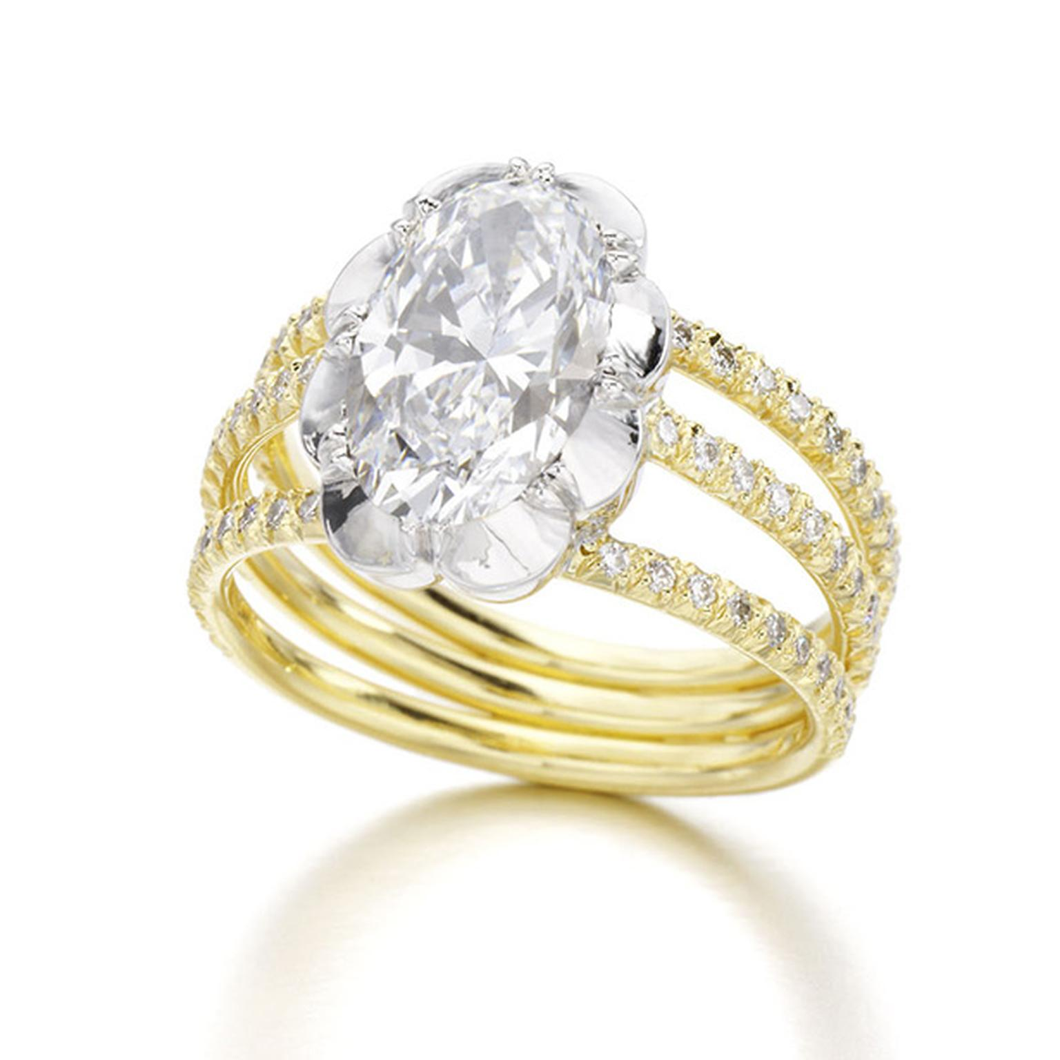 Jessica McCormack Oval Diamond Trio ring