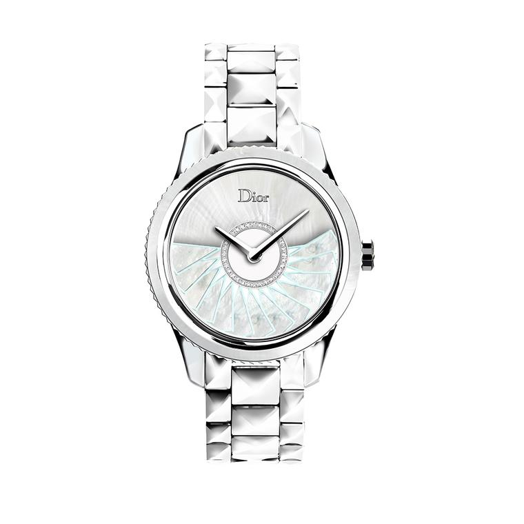 The Dior VIII Grand Bal Plissé Soleil watch in pale blue is available in a limited edition of 188 pieces