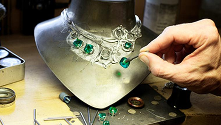The creation of the Boodles Greenfire emerald necklace is the subject of the Channel 4 documentary 'The Million Pound Necklace: Inside Boodles'