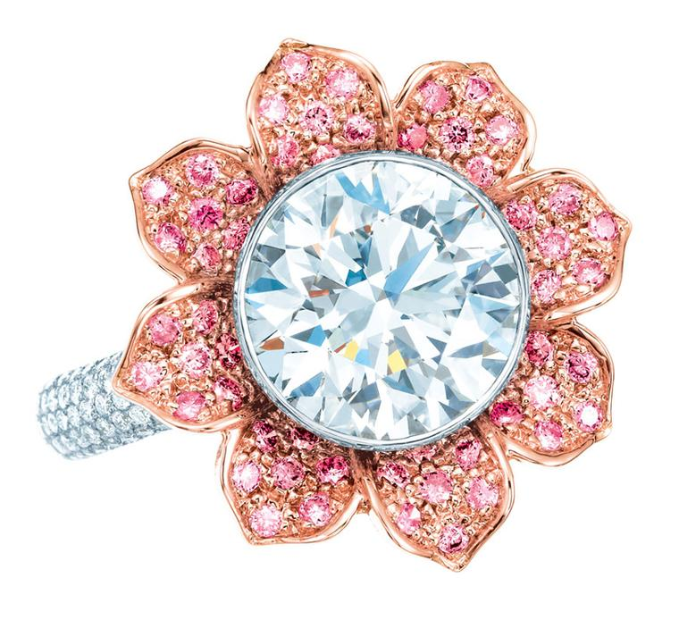Tiffany-Pink-and-white-diamond-ring