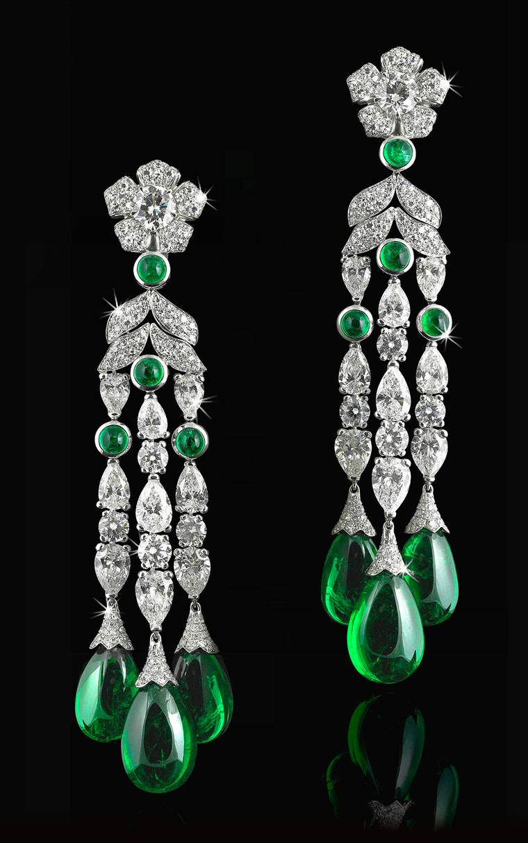 David Morris cabochon-Cut-Drop-Earrings-With-White-Diamonds