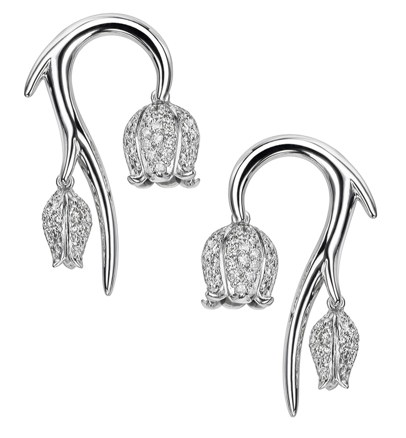 SHAUN LEANE,18CT WHITE GOLD AND WHITE DIAMOND MAYBELL STUD EARRINGS MAIN