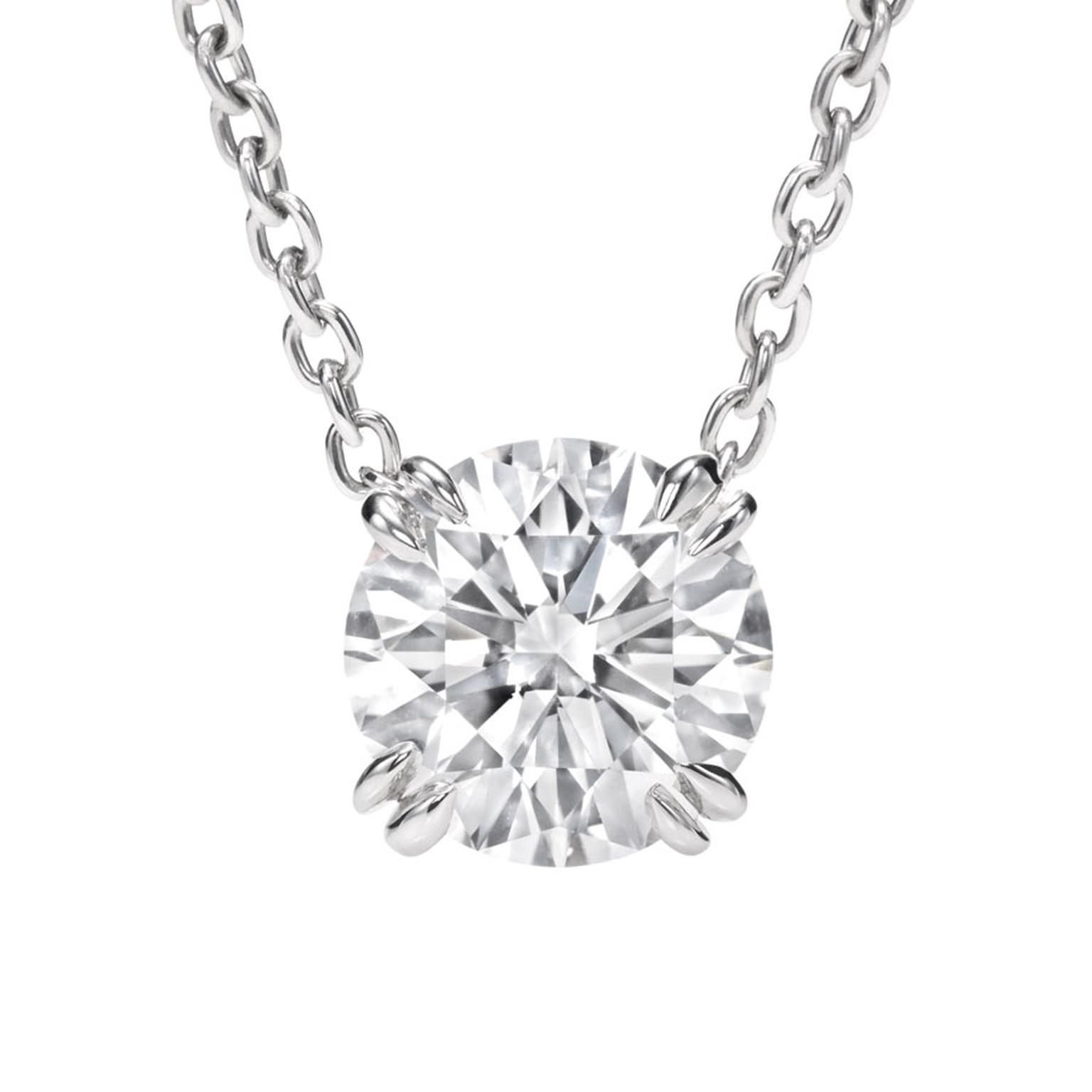Harry Winston. Round Brilliant diamond pendant