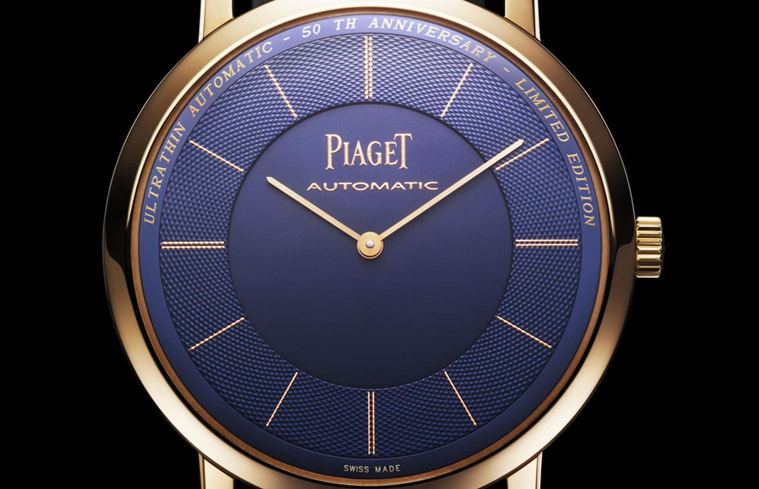 Piaget Altiplano anniversary limited edition in pink gold. The world's thinnest automatic watch and movement