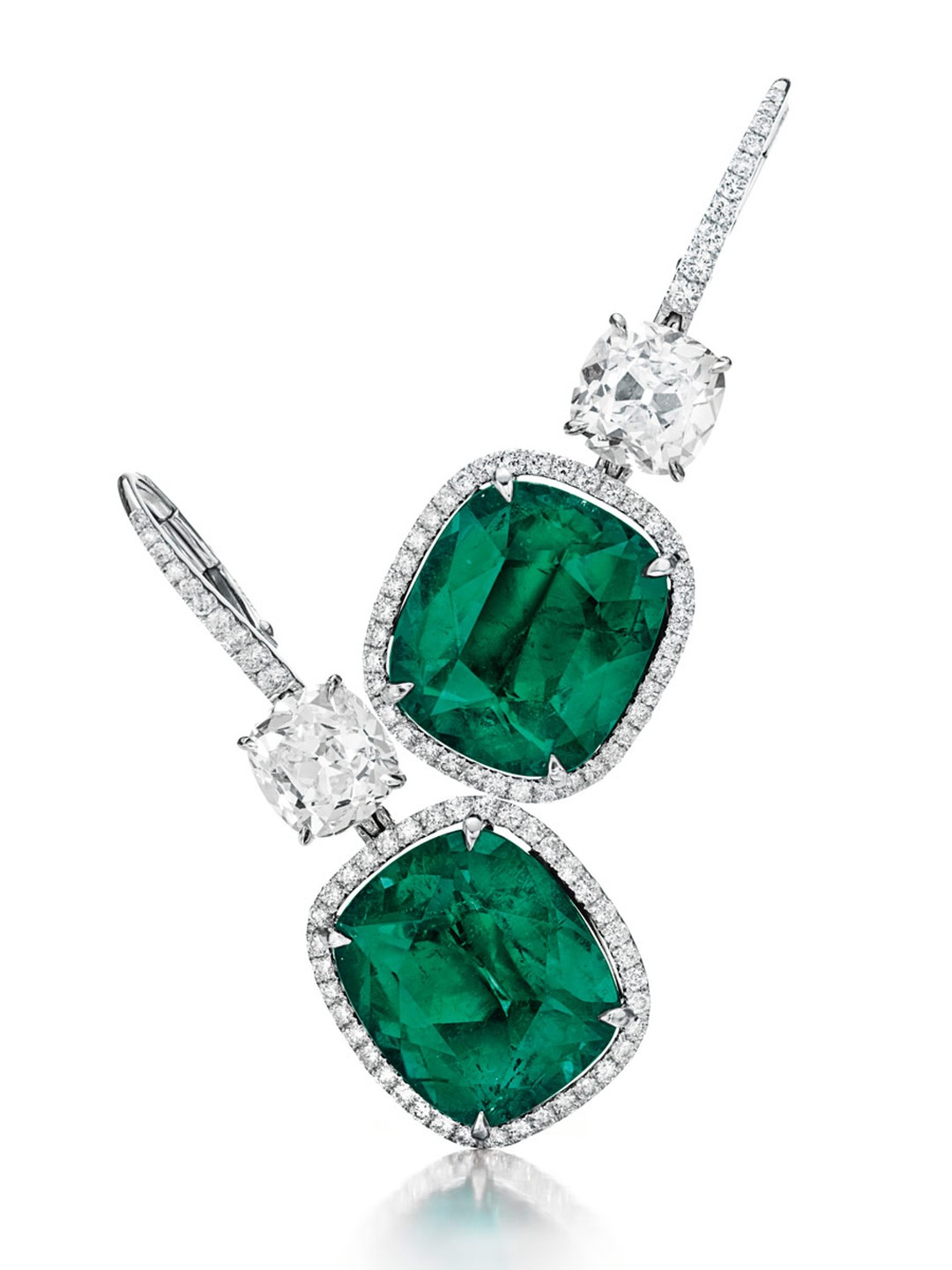 Christies-Colombian-Cushion-Cut-Emerald-and-Diamond-Ear-Pendants