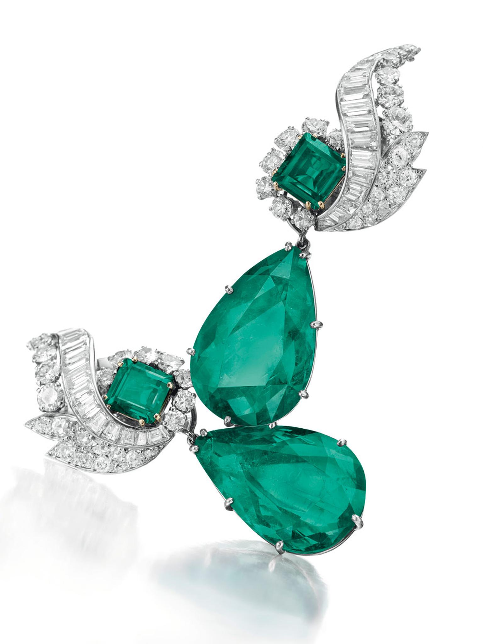 Christies-Colombian-Emerald-Diamond-Ear-Pendants