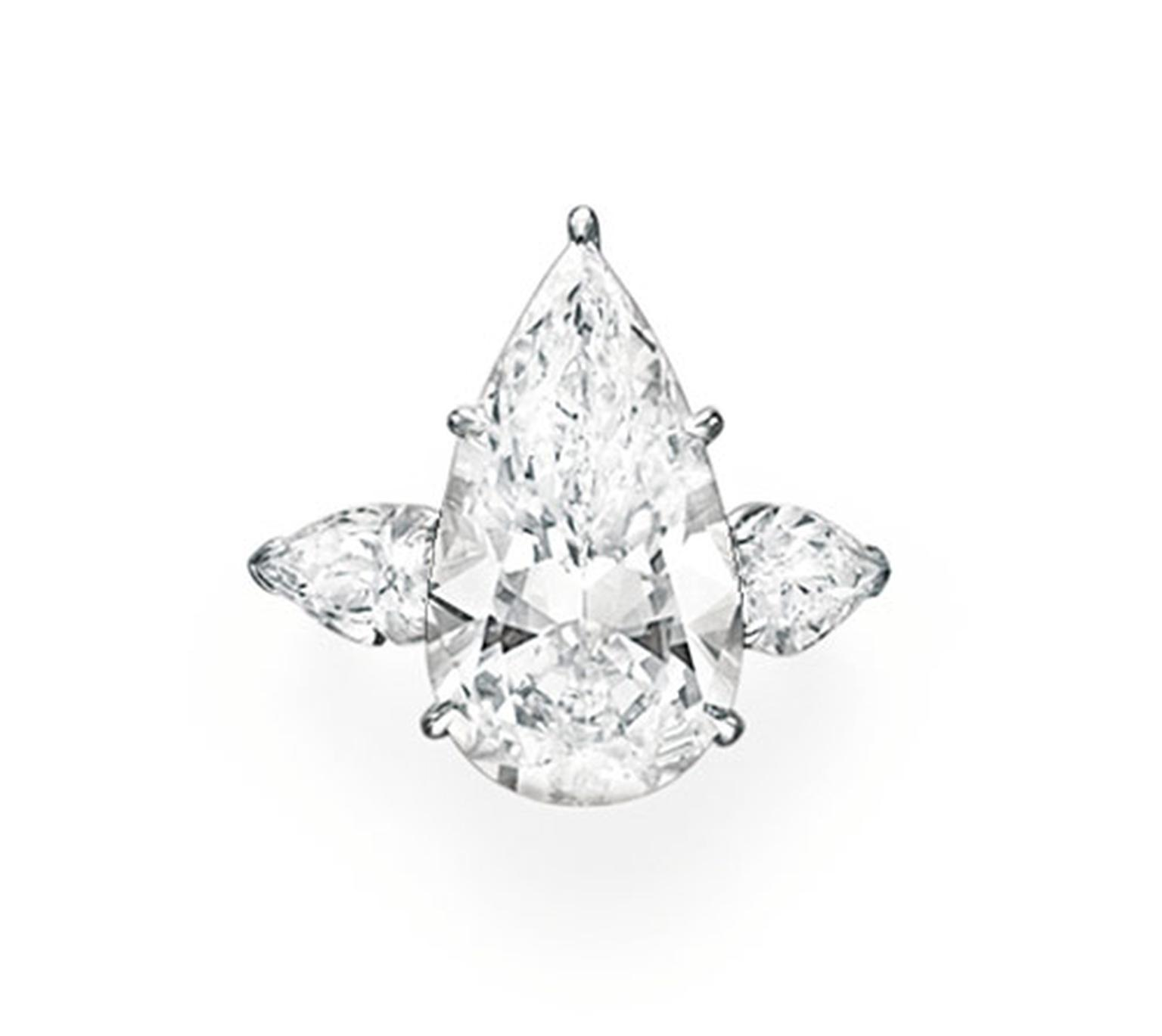 Christies-Pear-Shaped-Diamond-Ring
