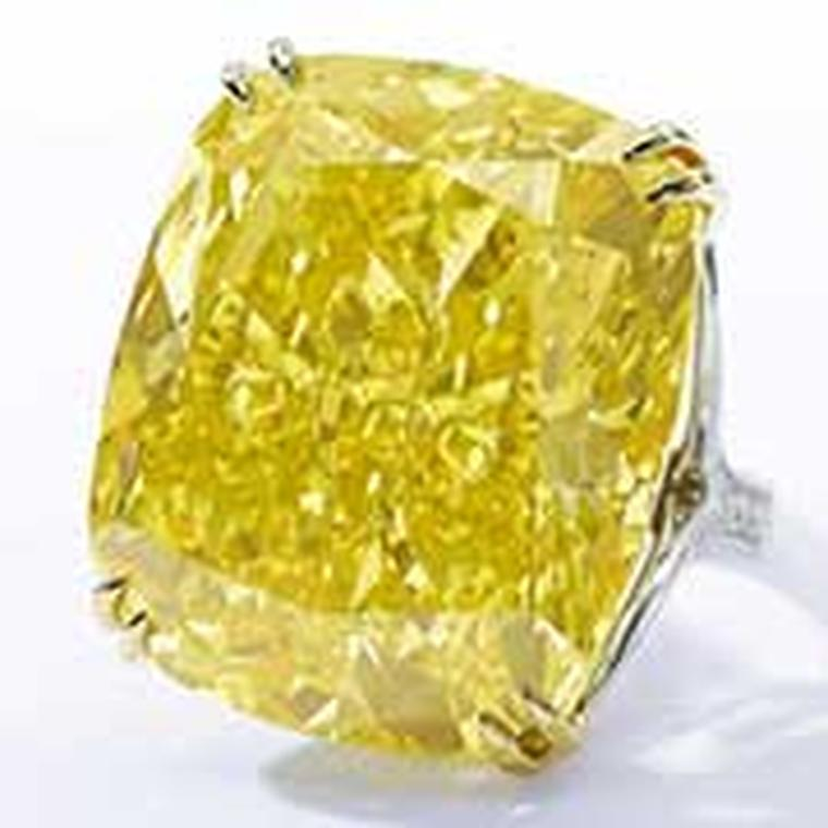 The Graff Vivid yellow diamond sold for $16.3m at Sotheby's in 2014. Sotheby's now holds the world auction records for four of the most sought-after diamond colours: white, pink, blue and yellow.
