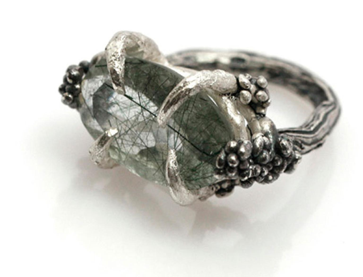 Eily-O-ConnellVenus--1480-euro---silver-oxidized-with-rutilated-quartz