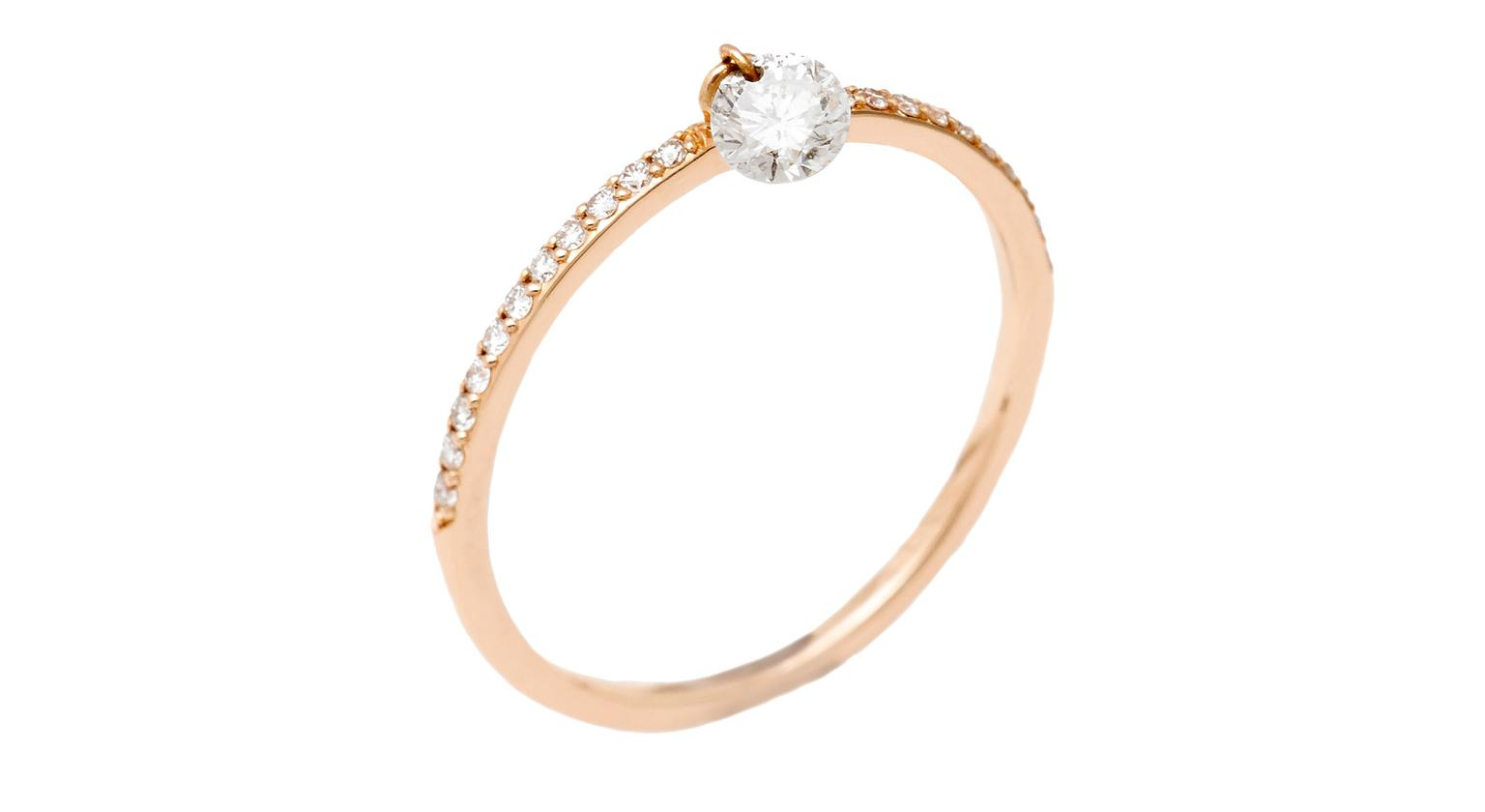 Raphael Canot Set Free Ring in Pink Gold Zoom