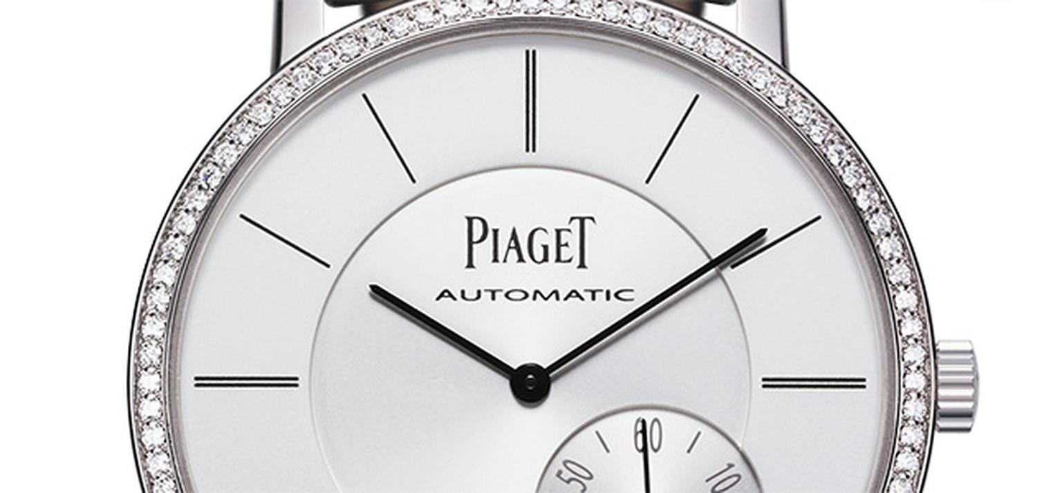 Piaget Altiplano automatic set with diamonds, dial detail