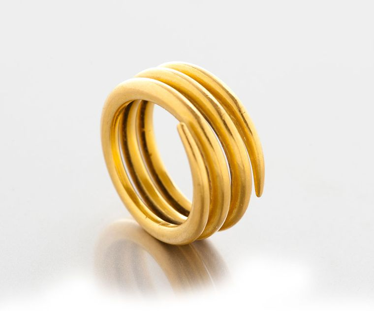 Lisa-Black-Coiled-Gold-Ring