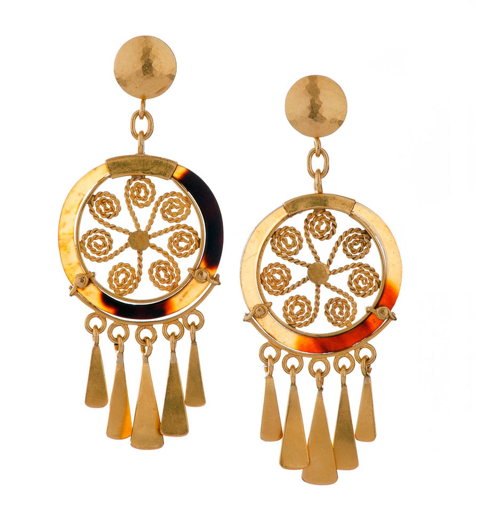 Lisa-Black-Paya-and-Gold-Spiral-Earrings