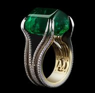 Gemfields and Alexandra Mor emerald ring