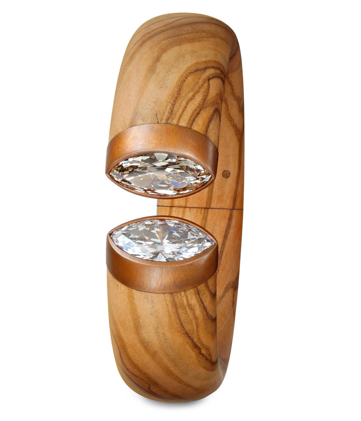 ad-Hemmerle-Bangle-olive-wood-copper-white-gold-white-diamond-brown-diamond