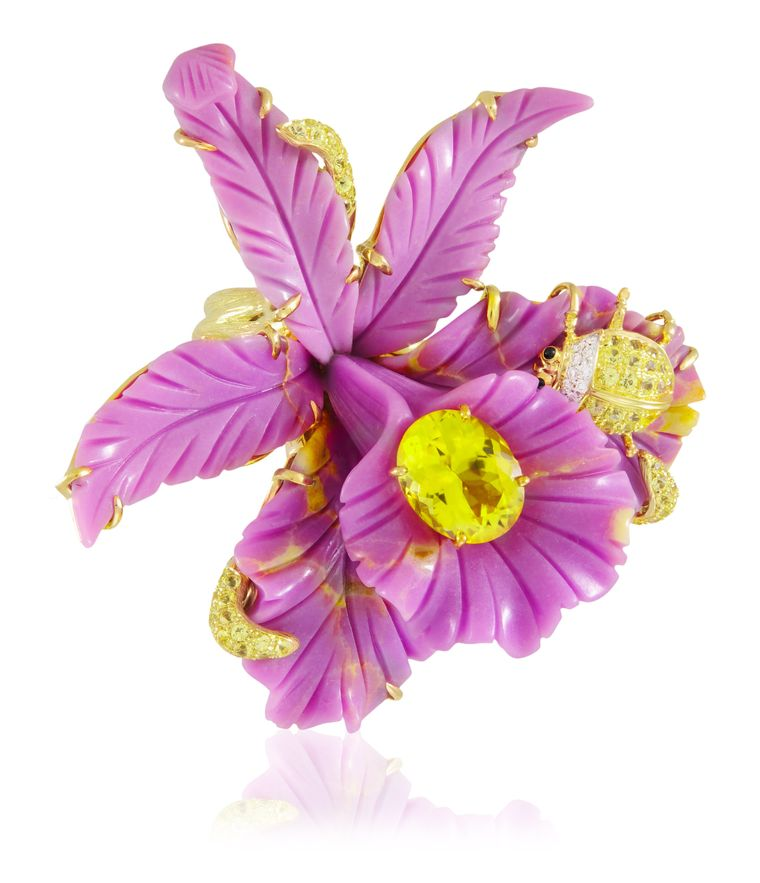 Lydia Courteille Jewellery Rainbow Warrior Collection: Sweet And Sour Orchid Ring
