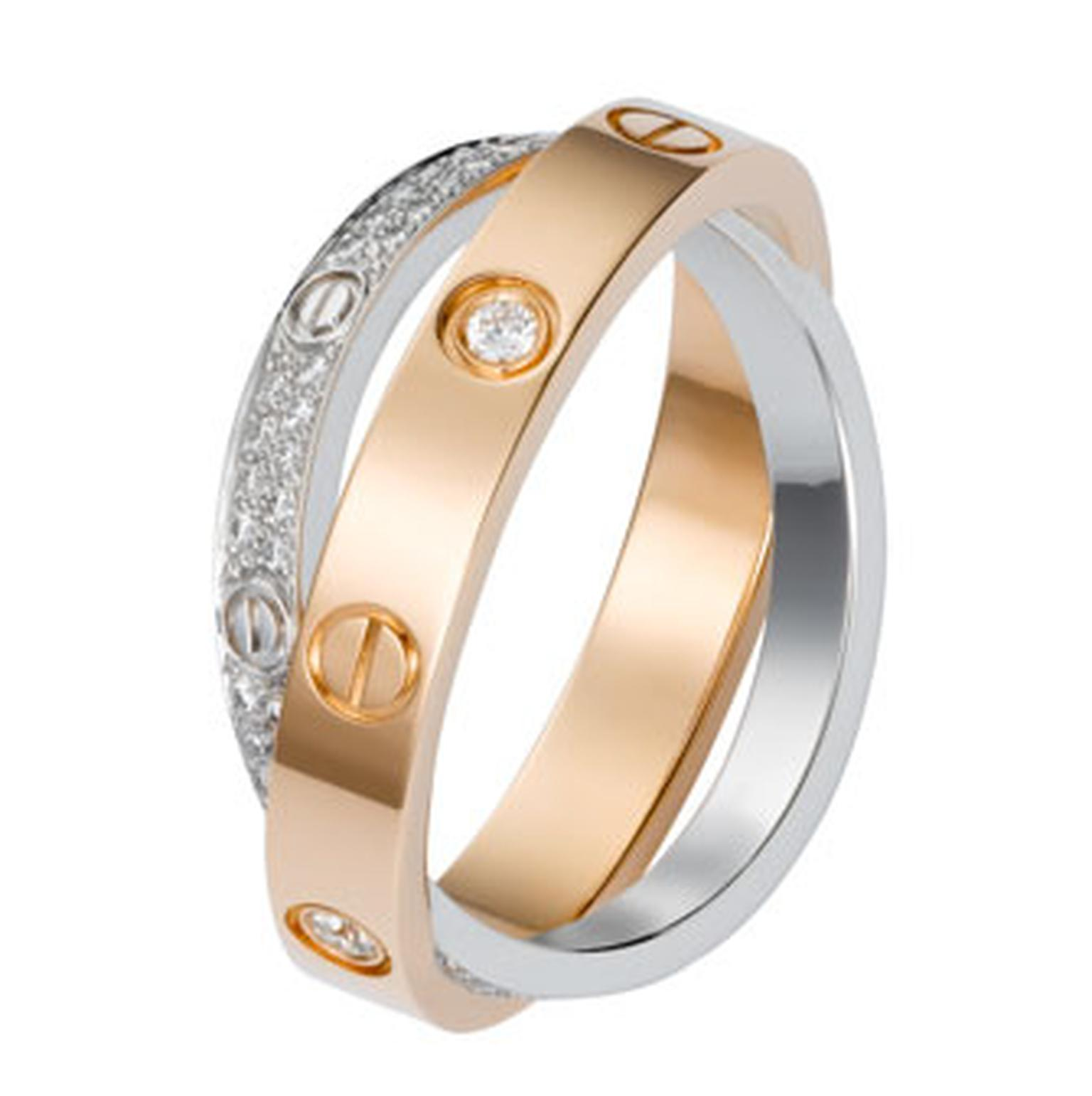 CartierLove Ring with diamonds