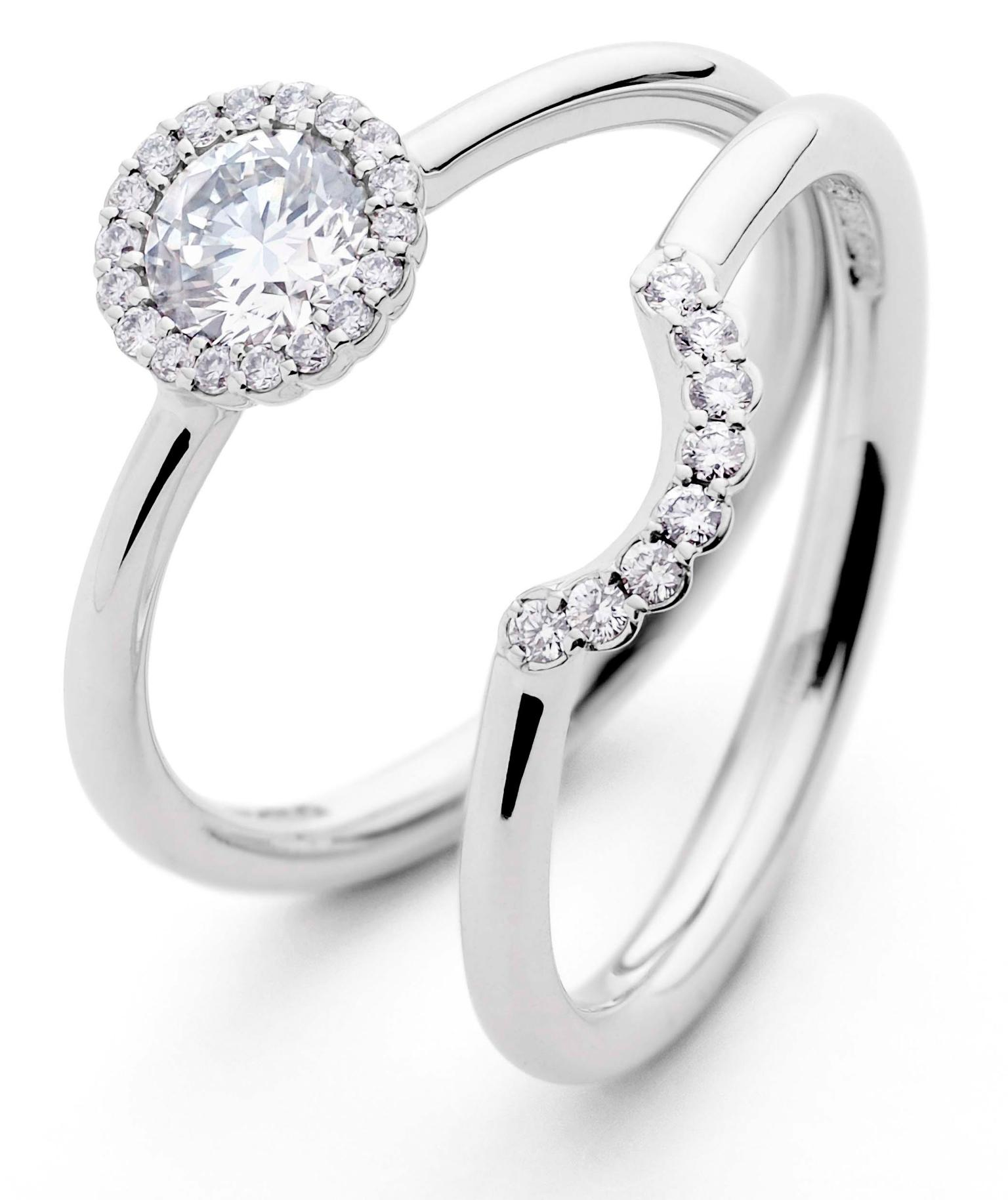 Wedding Ring His And Hers 96 Fancy AG Wedding Set zoom