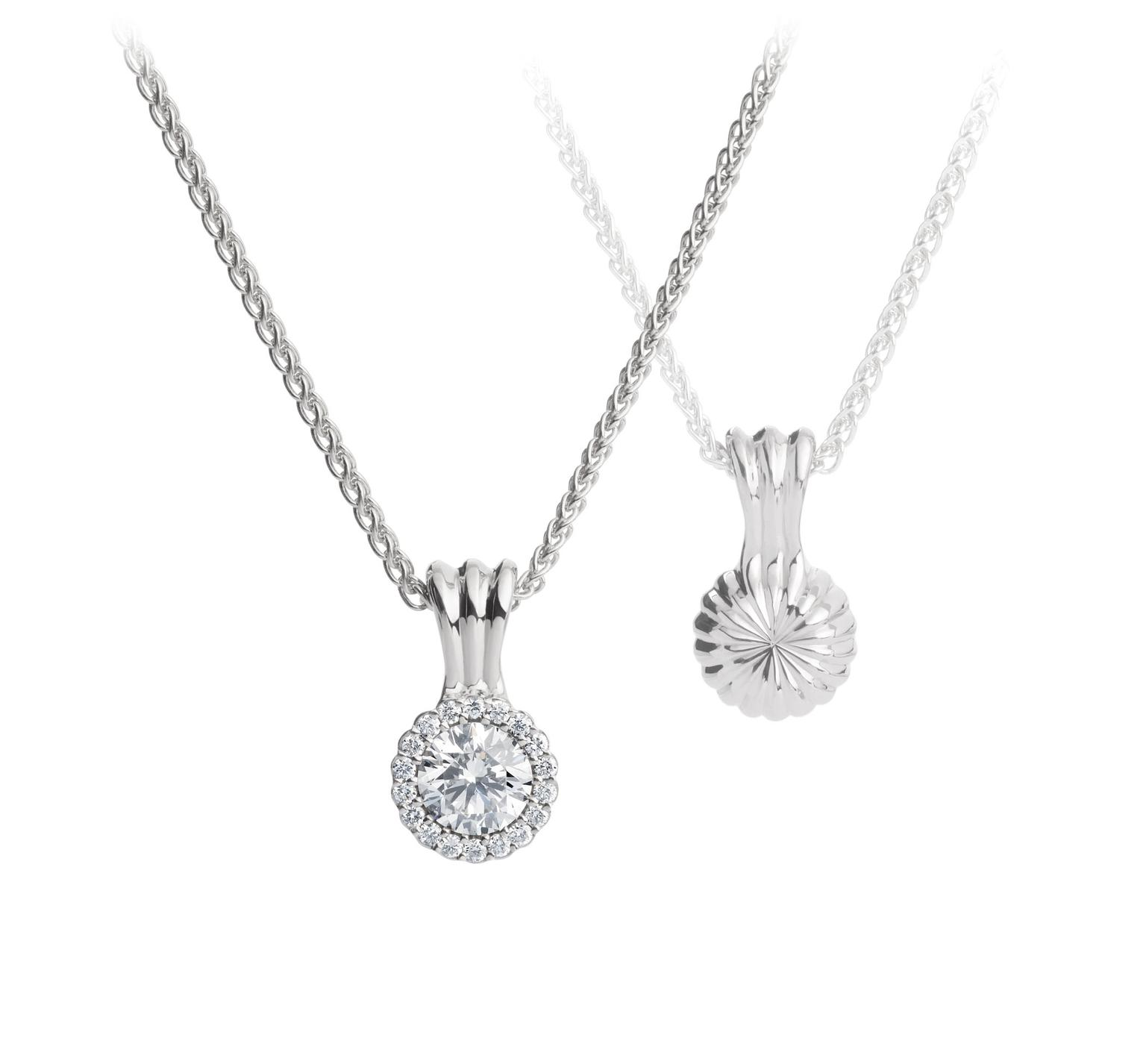 Wedding Ring Necklace 89 Lovely AG Cannele Necklace zoom