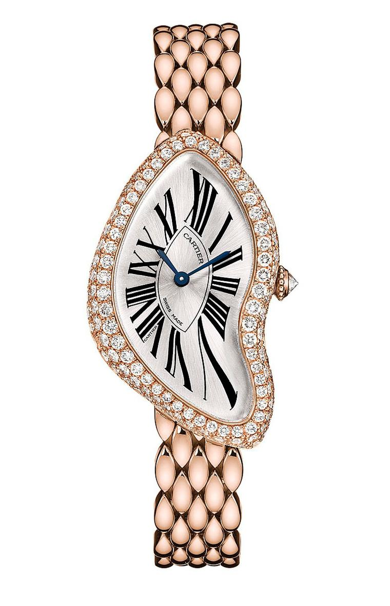 Cartier Crash Limited Edition 2013 in 18ct rose gold, set with 150 brilliant-cut diamonds totalling 2.15ct.