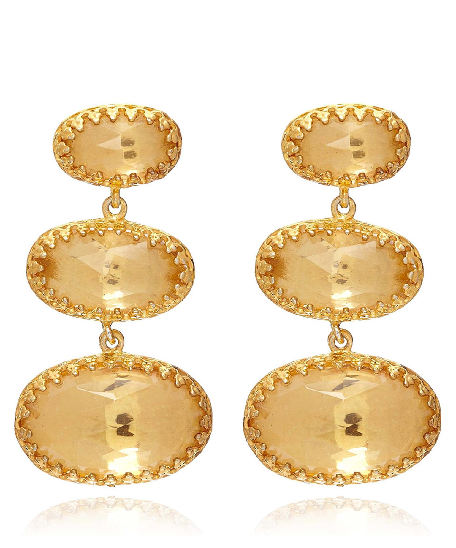 Larkspur & Hawk Gold -plated Tessa Drop Earrings