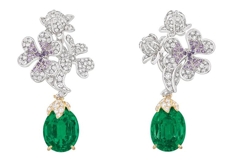 Dior-PRECIEUSES-TREFLE-EARRINGS-EMERALD