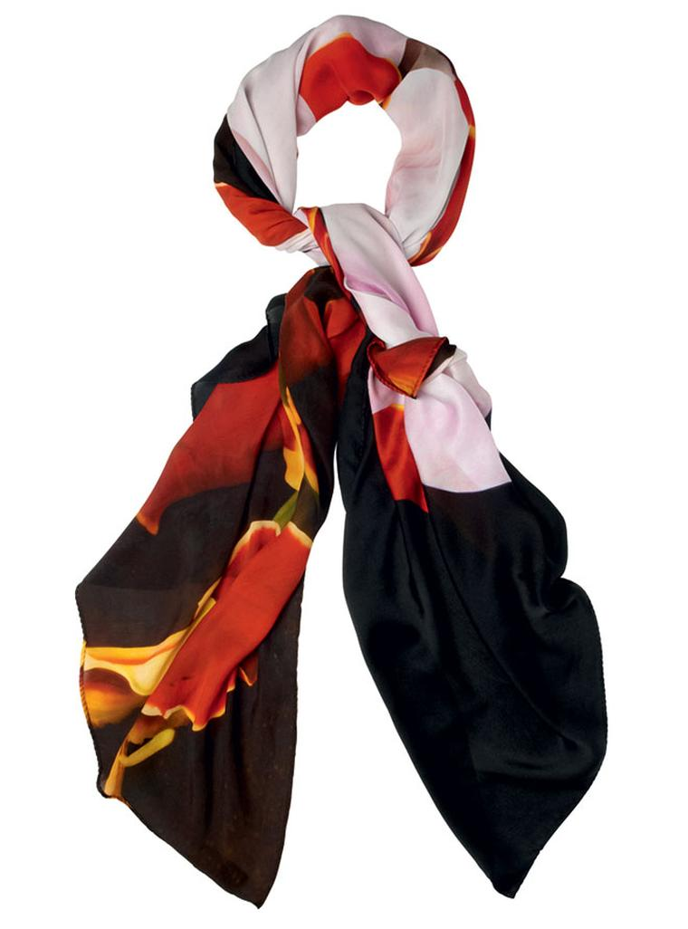 Marc Quinn Silk scarf Black Orchid print Price from 270