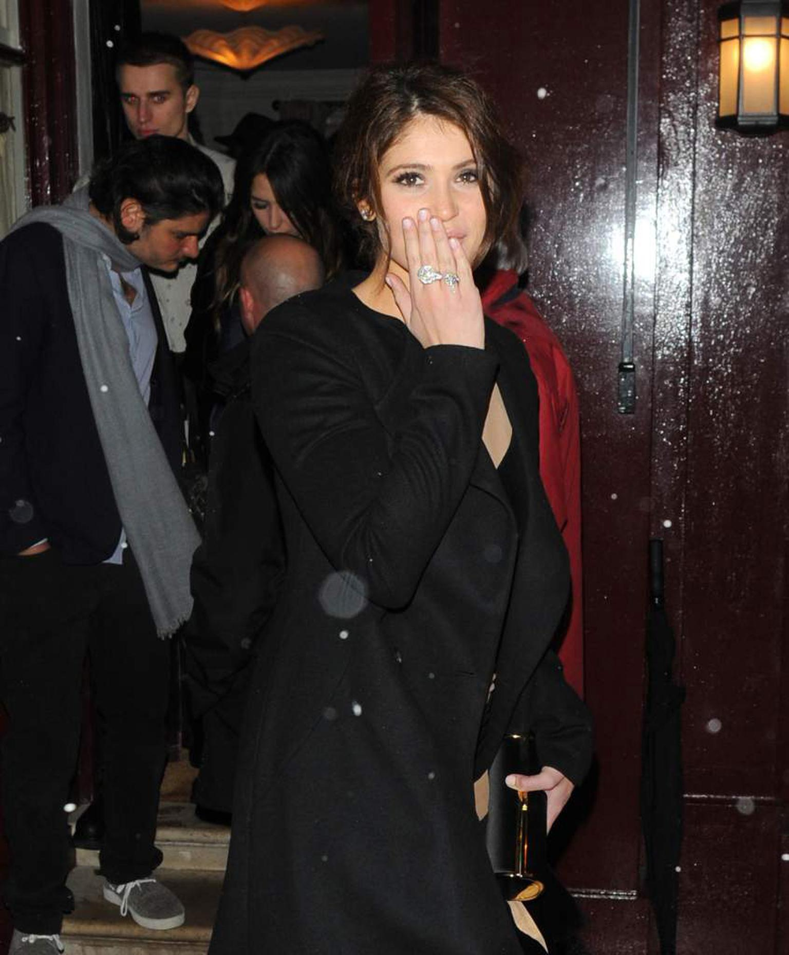 Gemma Arterton wearing a Stephen Webster serpent ring