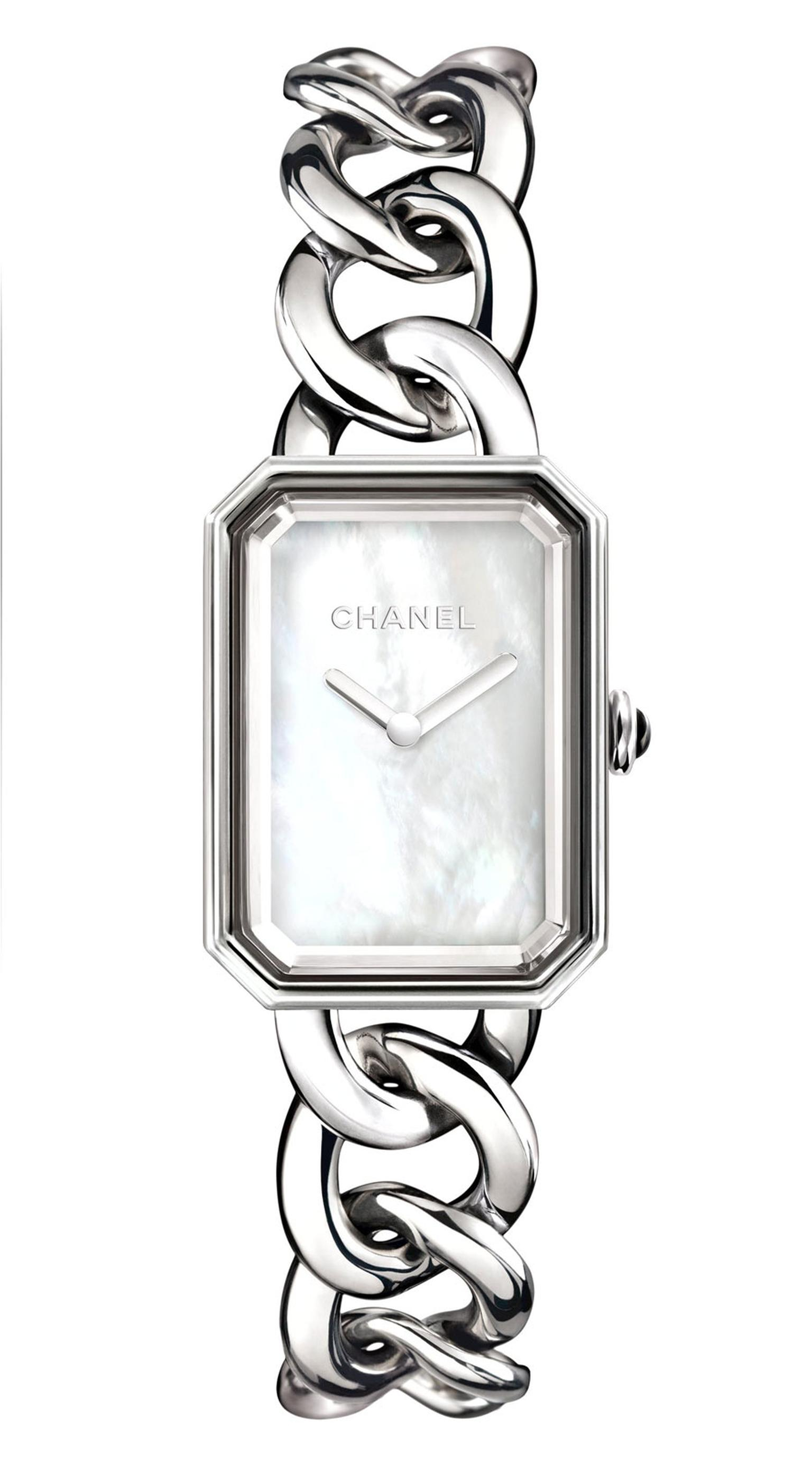 Chanel-Premiere-watch-acier-cadran-nacre-GM-H3251