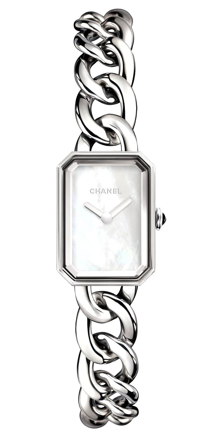 Chanel-Premiere-watch-acier-cadran-nacre-PM-H3249