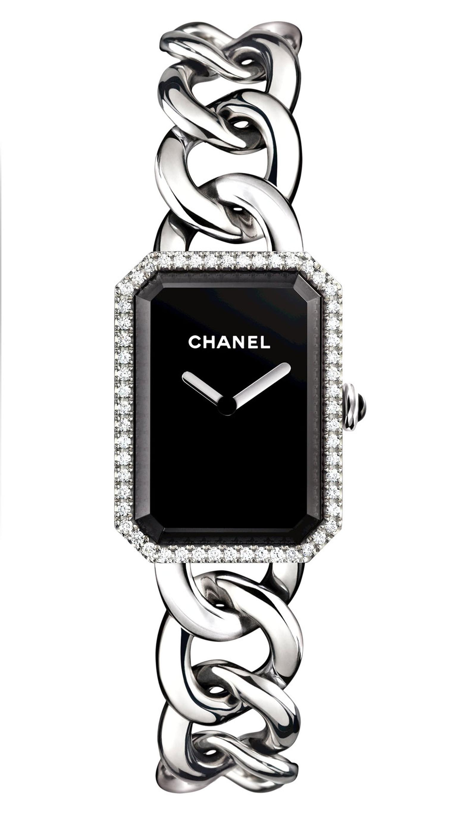 Chanel-Premiere-watch-acier-diamants-GM-H3254