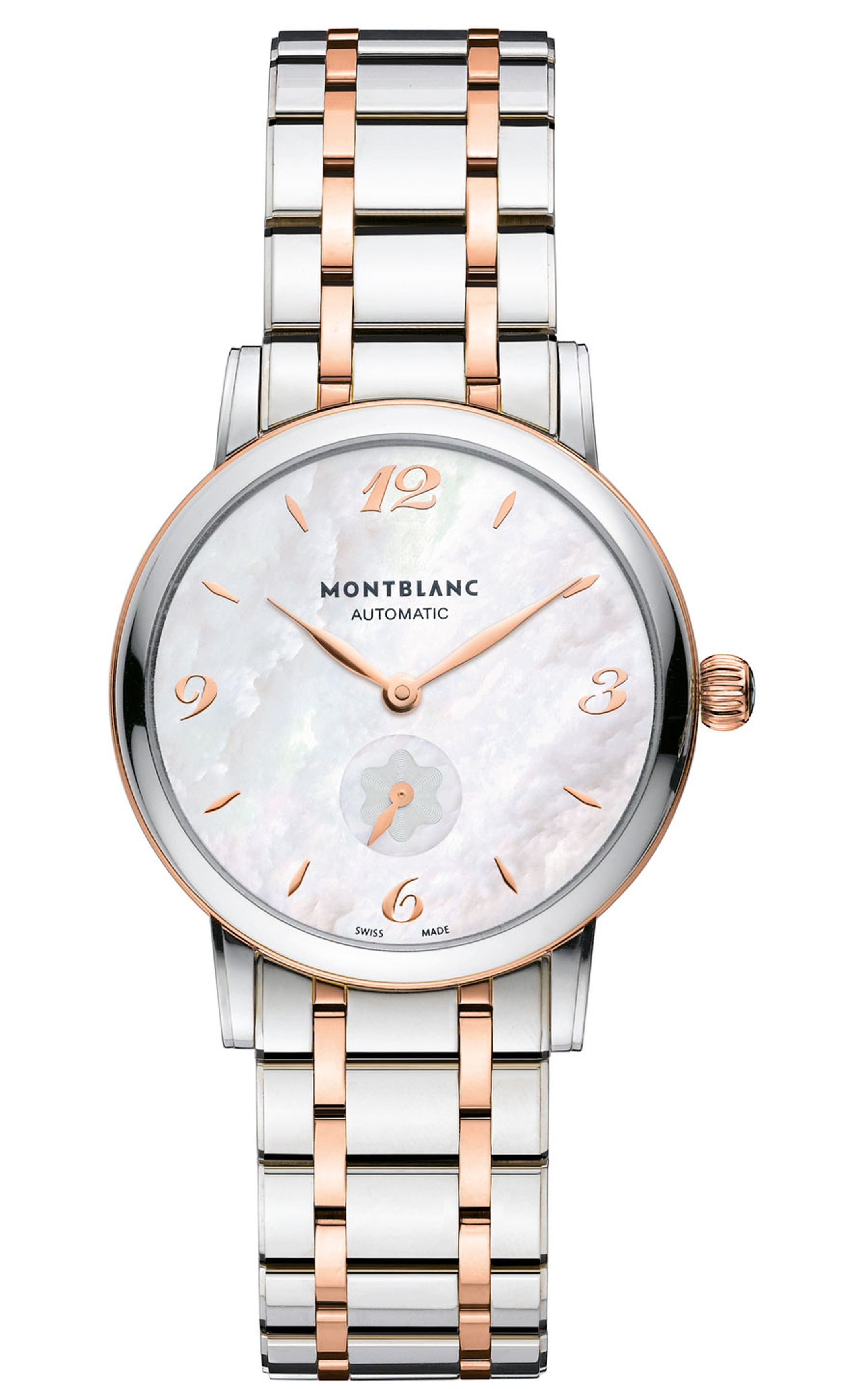 Montblanc-Star-Classique_Lady-Automatic_Steel-Gold-front