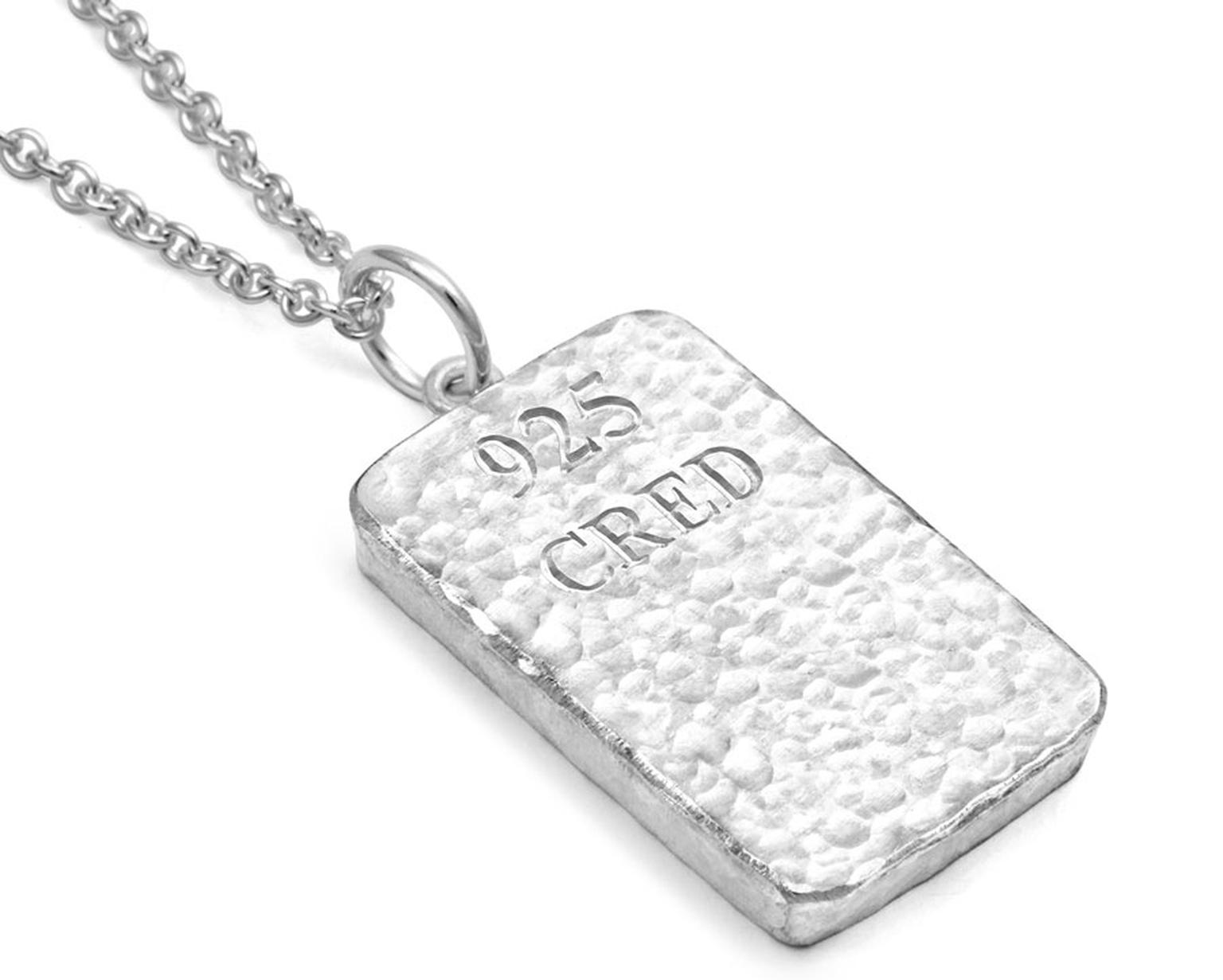 CRED Jewellery pendant: the world's first jewellery made from Fairtrade silver