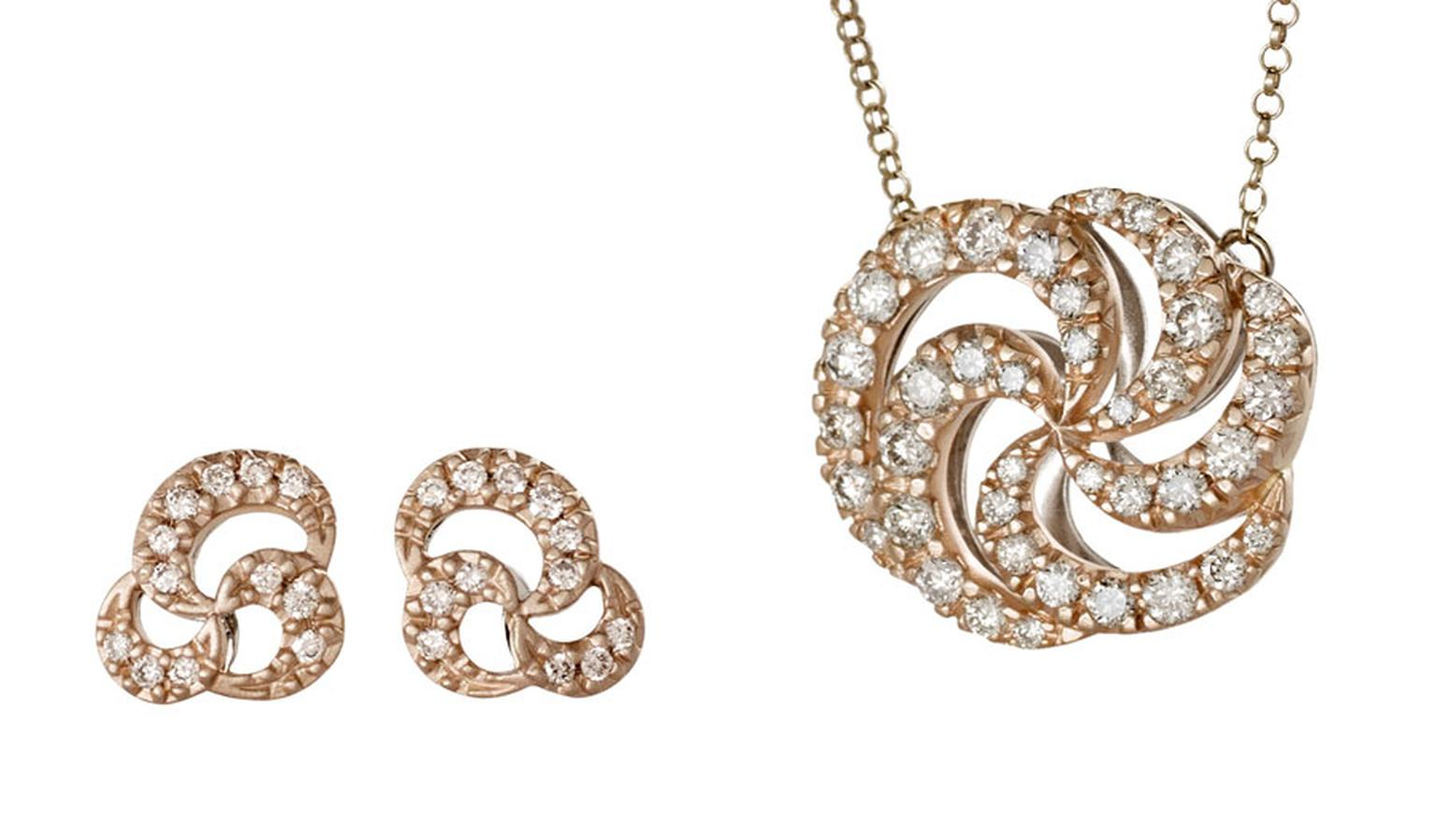 H-Stern-Earrings-and-pendant-in-rose-gold-with-diamonds