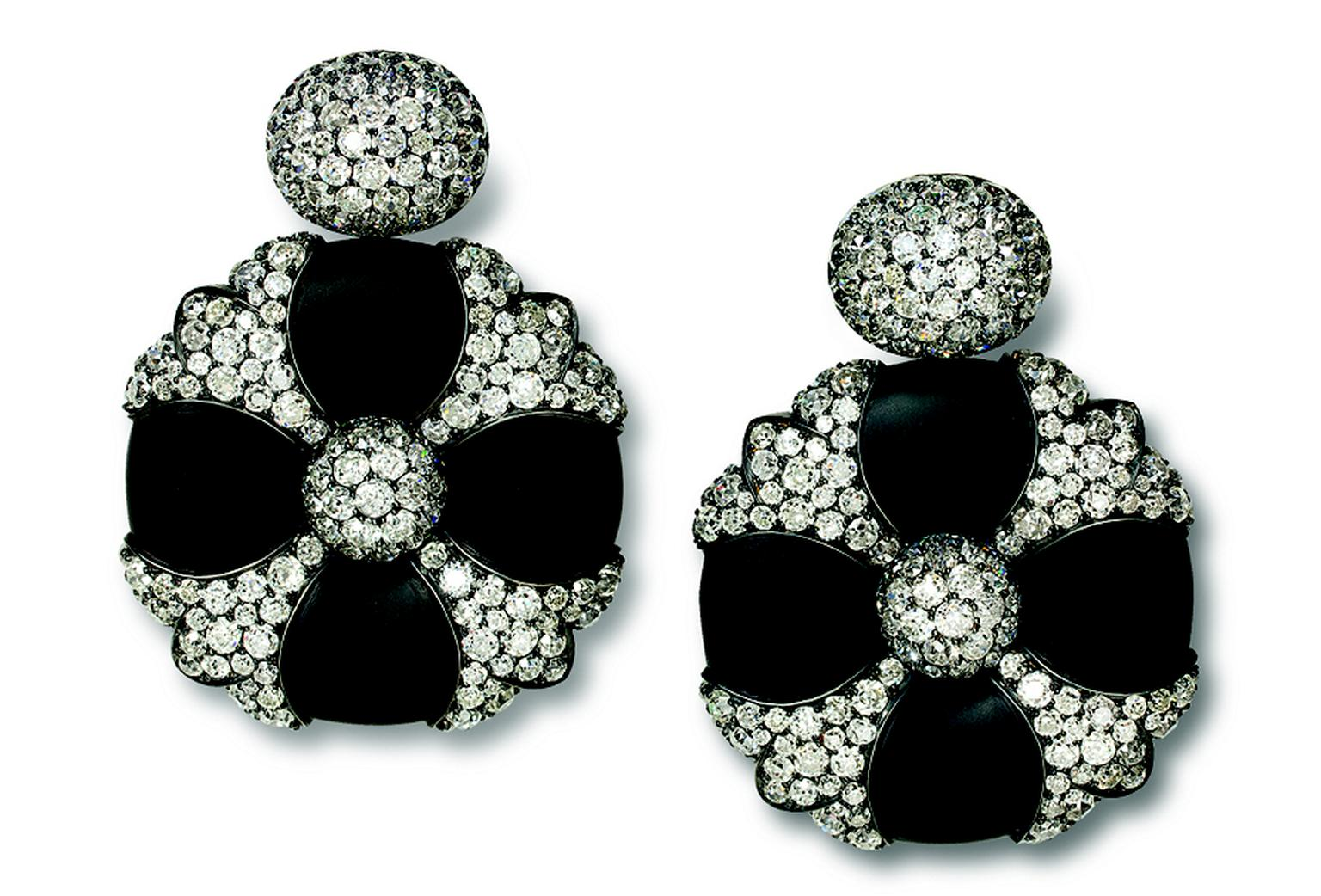 Hemmerle Earrings, iron, silver, white gold, old cut diamonds MAIN PIC.jpg