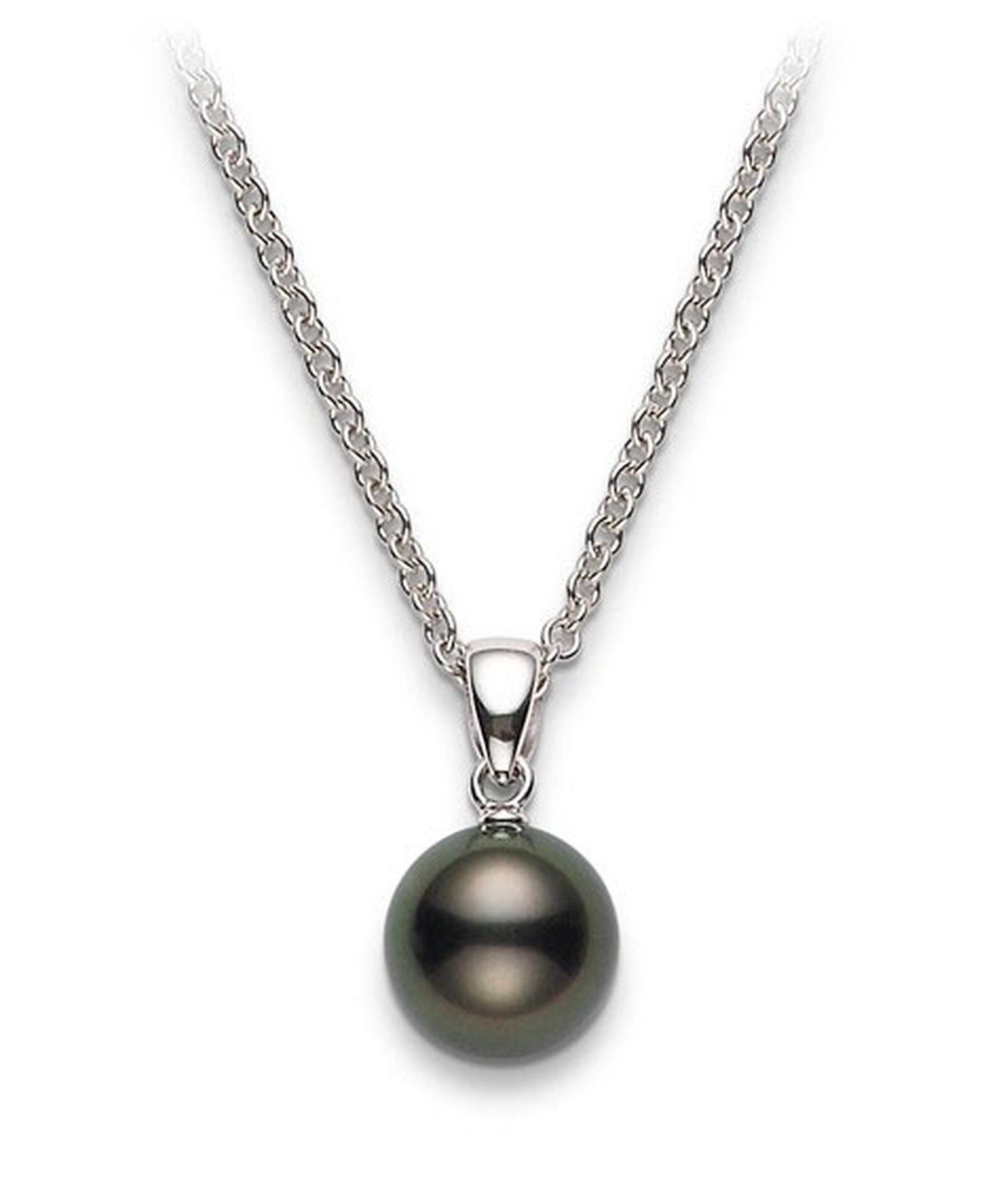 Mikimoto Black south sea pendant 650