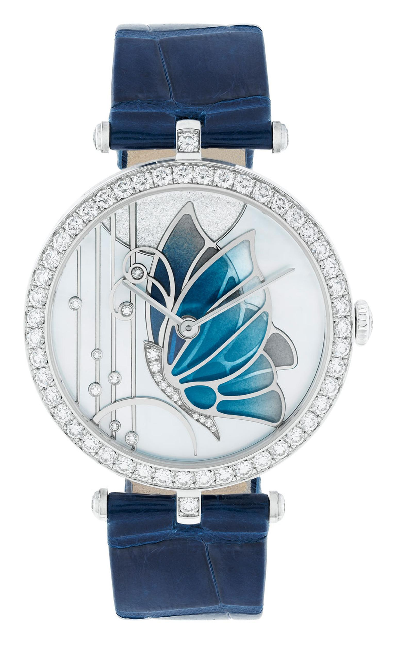 Van Cleef & Arpels 'Lady Arpels Papillon Bleu Nuit' in white gold case