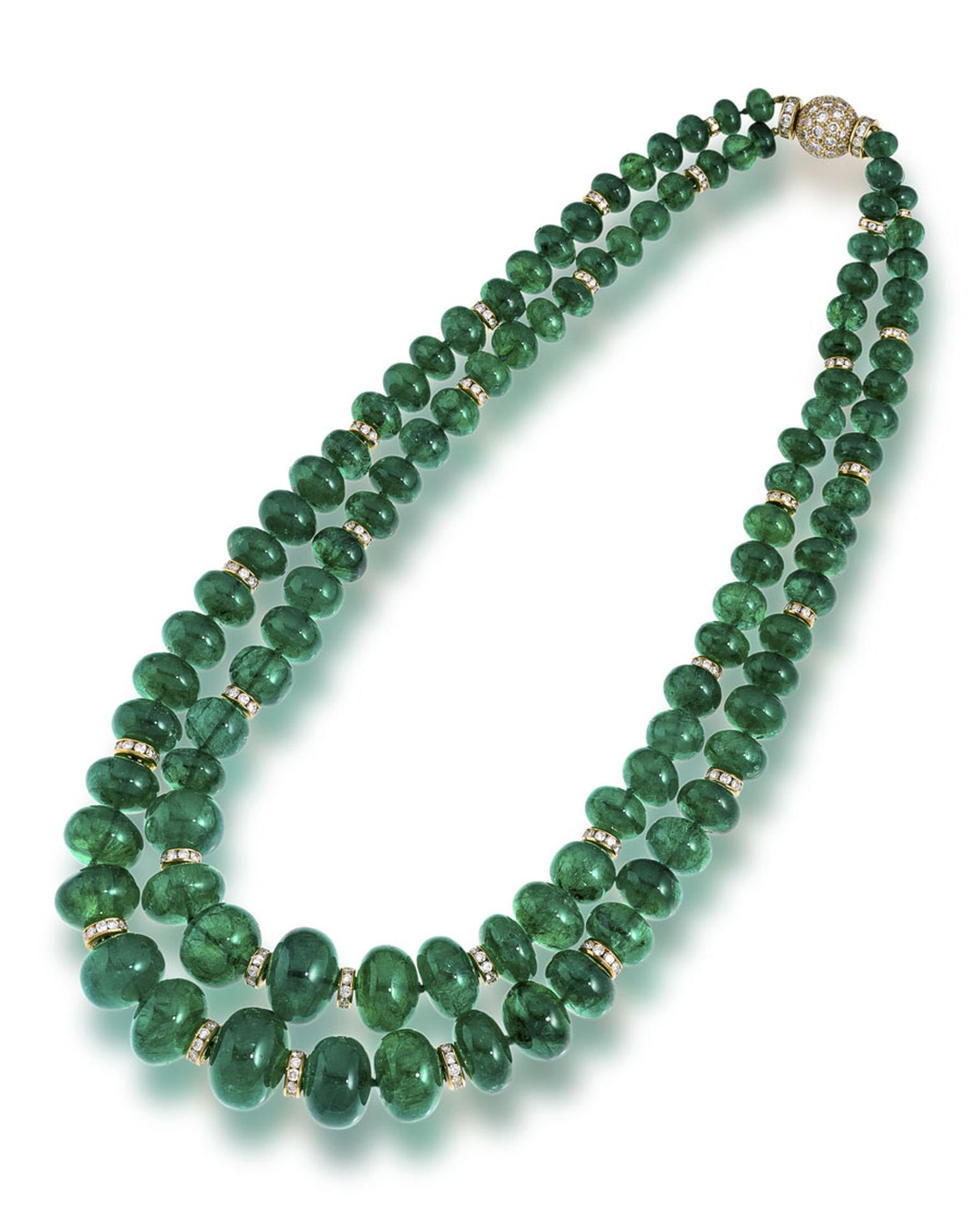 Bonhams-An-emerald-and-diamond-necklace-Bulgari
