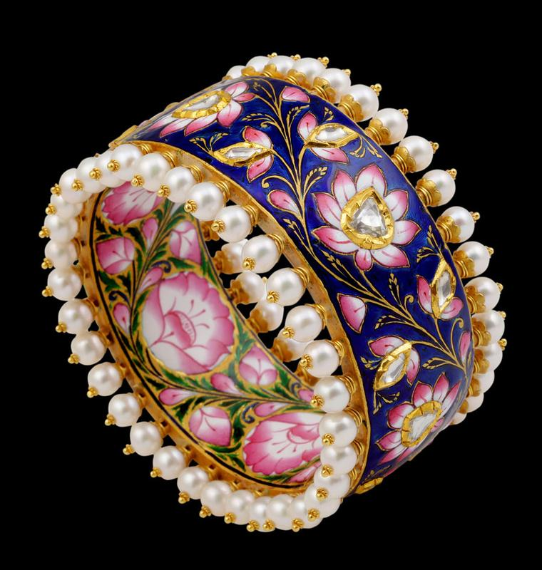 Sunita-Blue-Pink-Enamel-Bangle