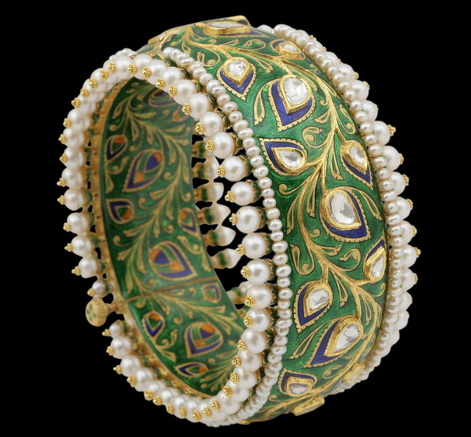 Sunita-Green-Enamel-Bangle