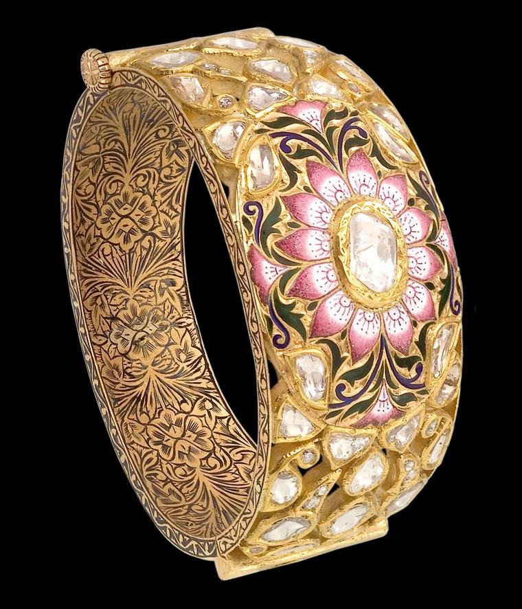 Sunita-Pink-Enamel-Bangle