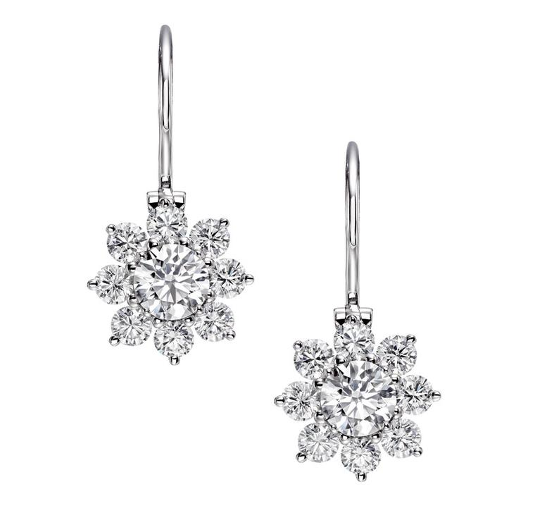 Harry-Winston-Sunflower-Wire-Drop-Earrings