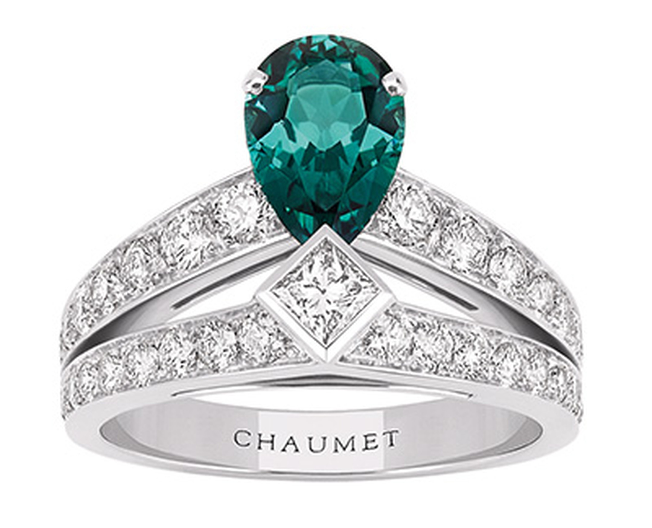 Chaumet Josephine Tiara ring with tourmaline