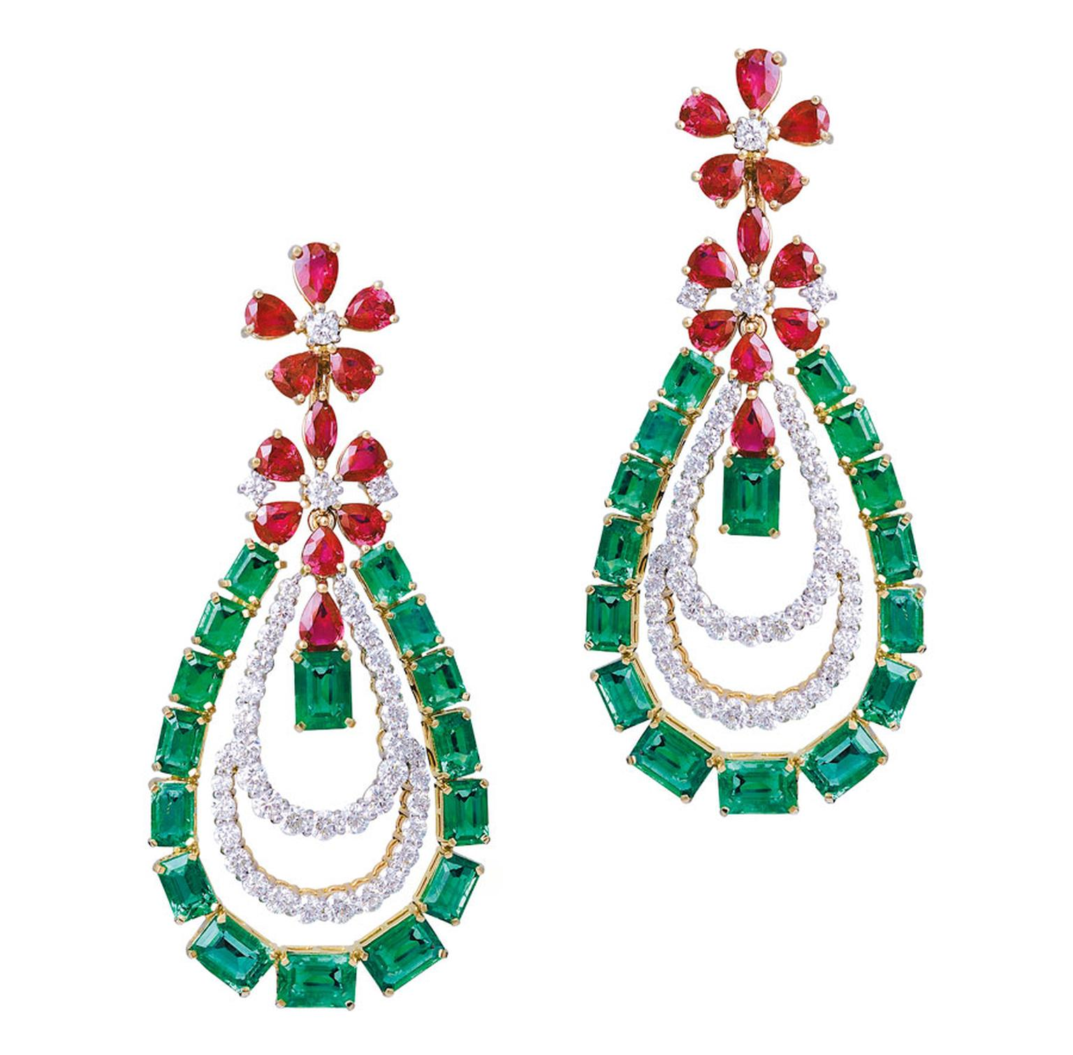 Gemfields-Farah-Khan-earrings-with-Gemfields-rubies-and-emeralds-CMYK