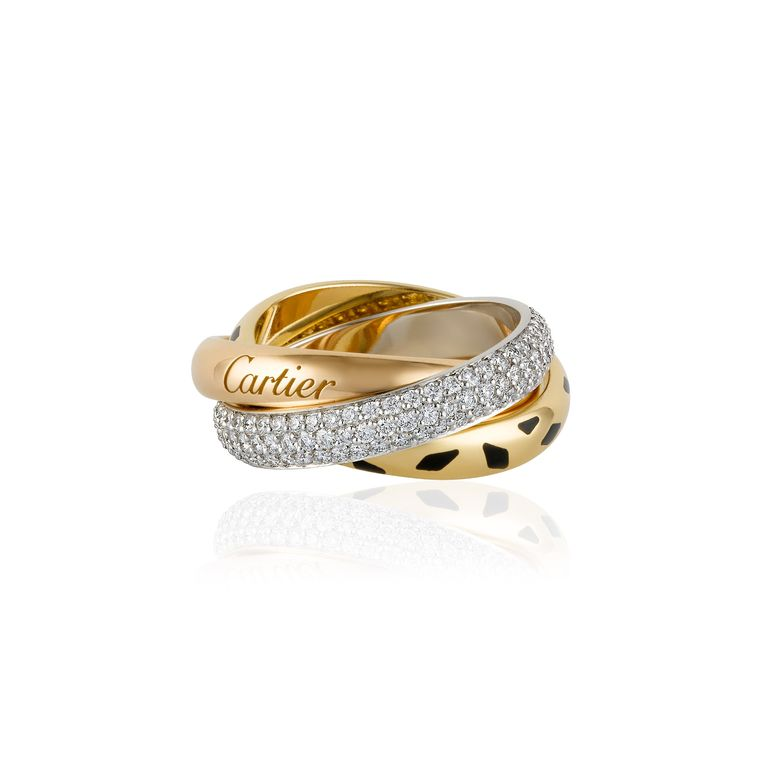 trinity sauvage gold and diamond ring cartier. Black Bedroom Furniture Sets. Home Design Ideas