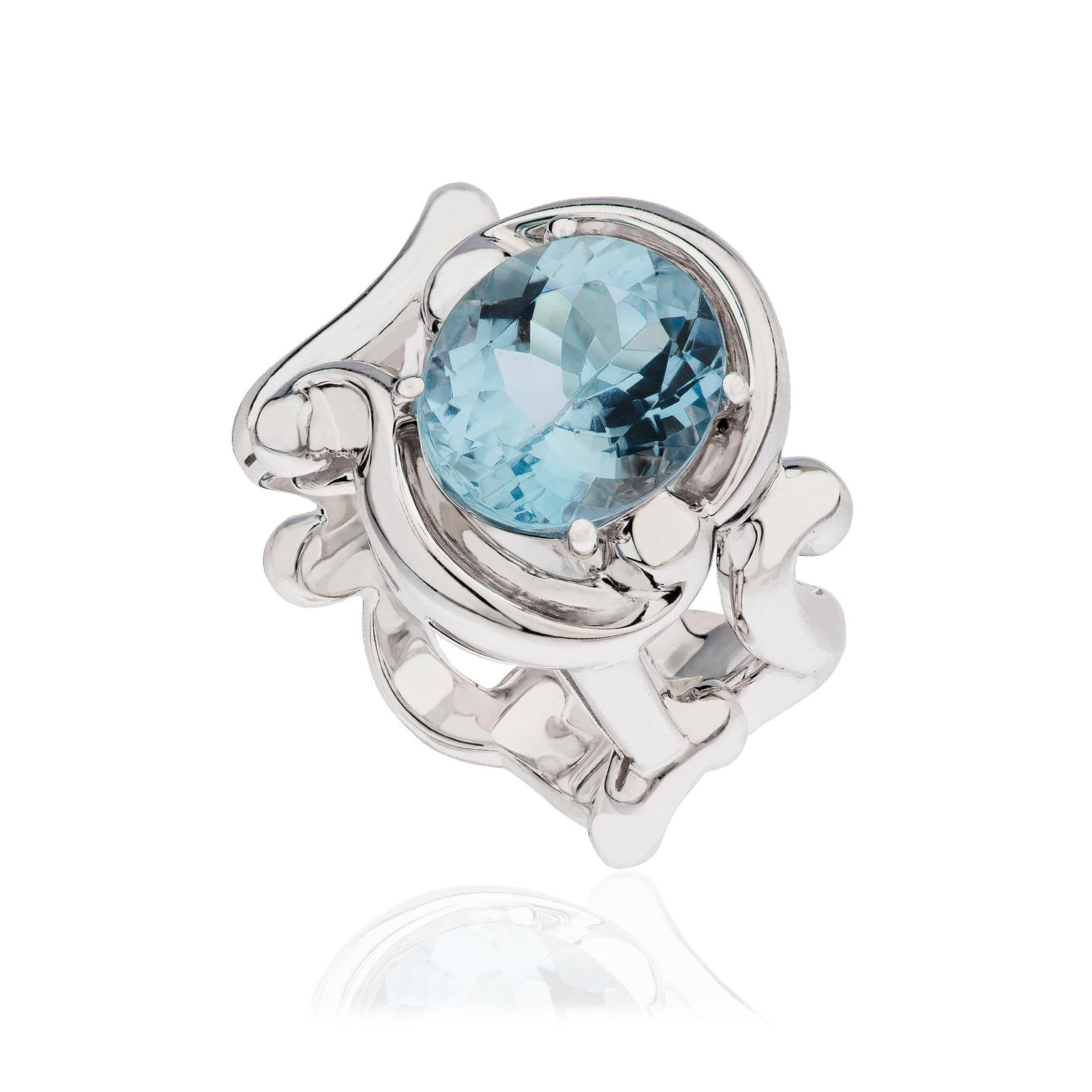 products the second hand ring diamond and fifth aquamarine collection flower jewellery sapphire