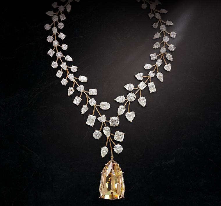 The record-breaking Incomparable yellow diamond necklace by Mouawad