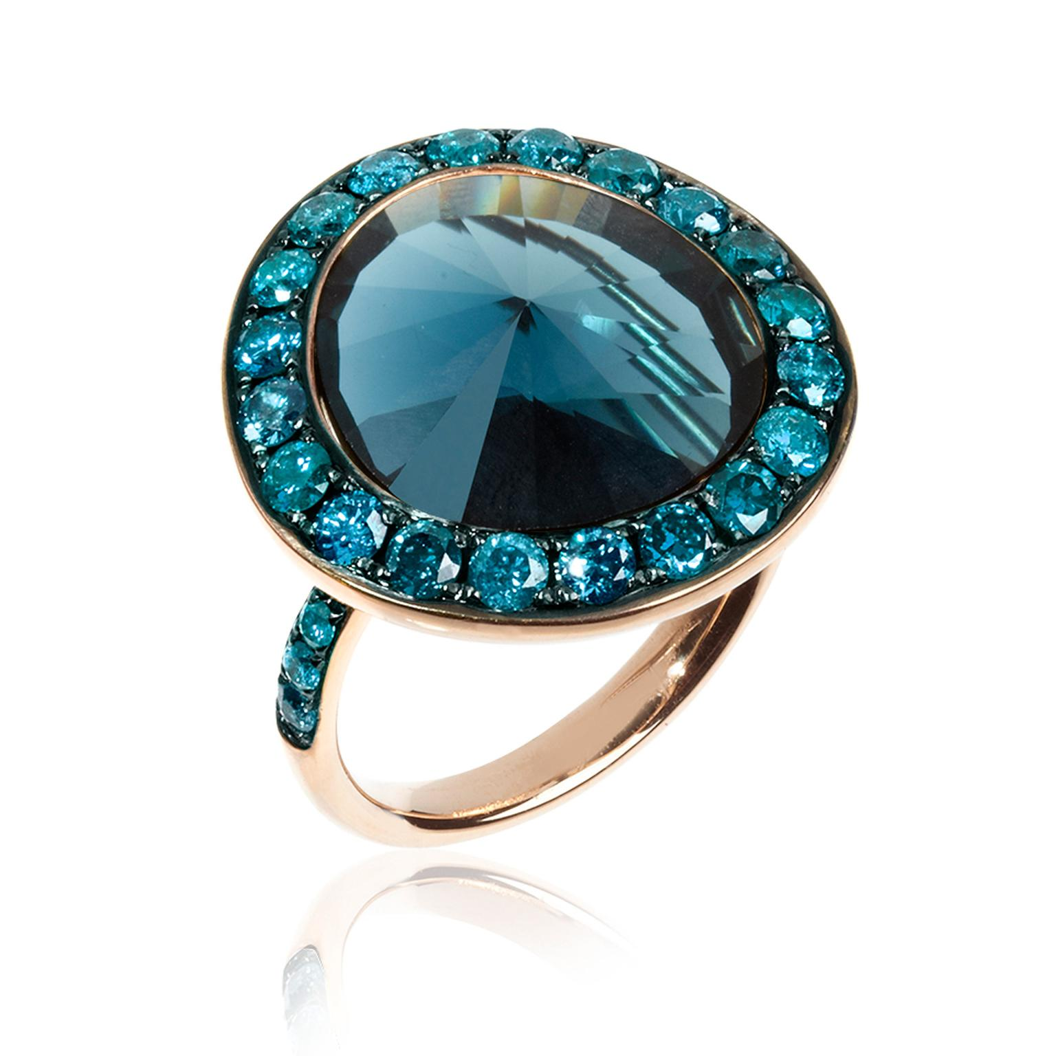 diamond topaz blue white london gold image ring