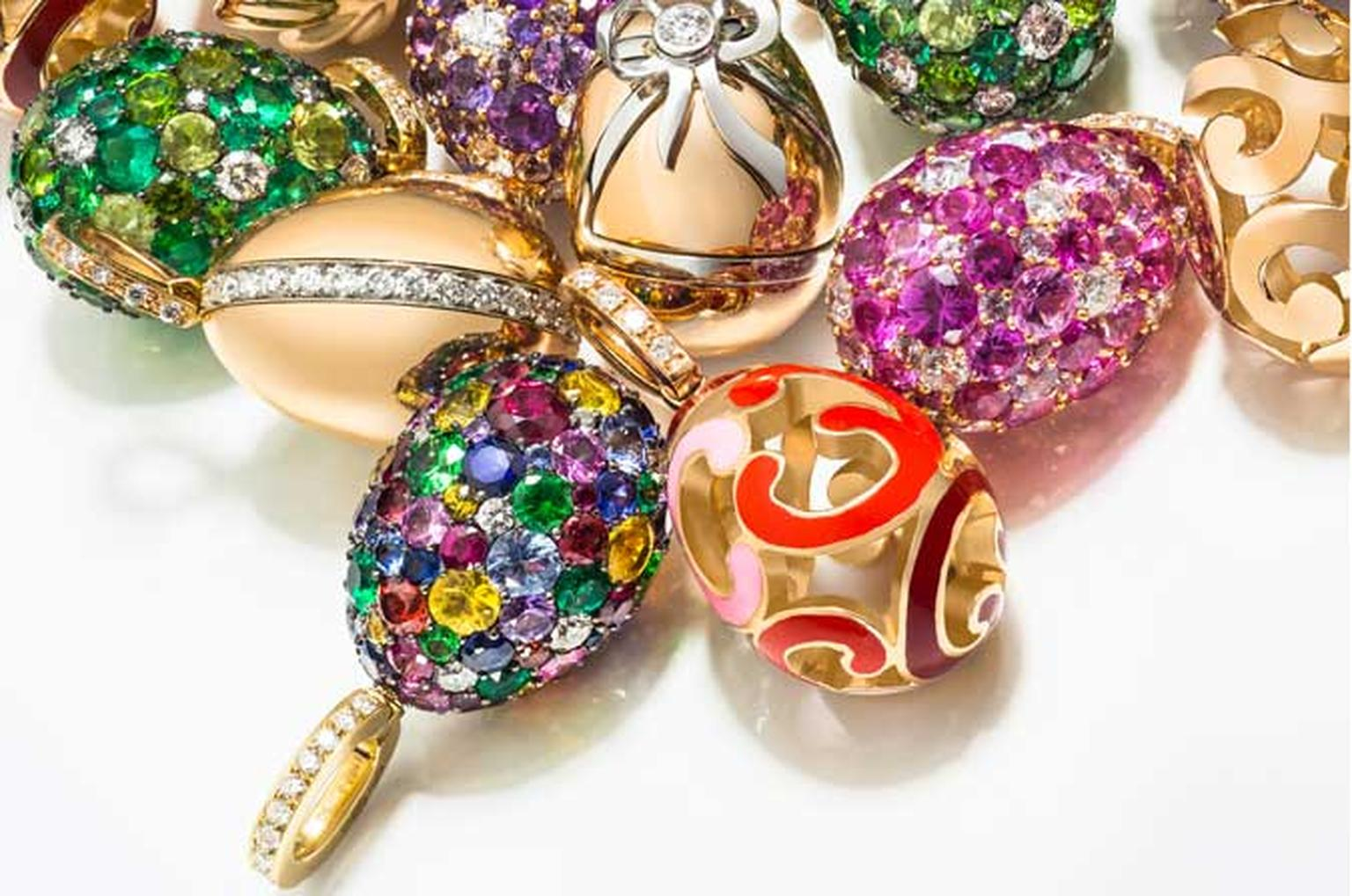 Faberge egg charms